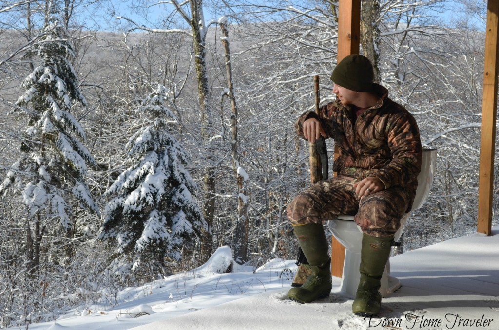 Vermont, Hike, Winter, Snow, Forest, Deer Camp, Vermont Deer Camp, Hunting Camp, Eden Vermont, Hunter, Toilet